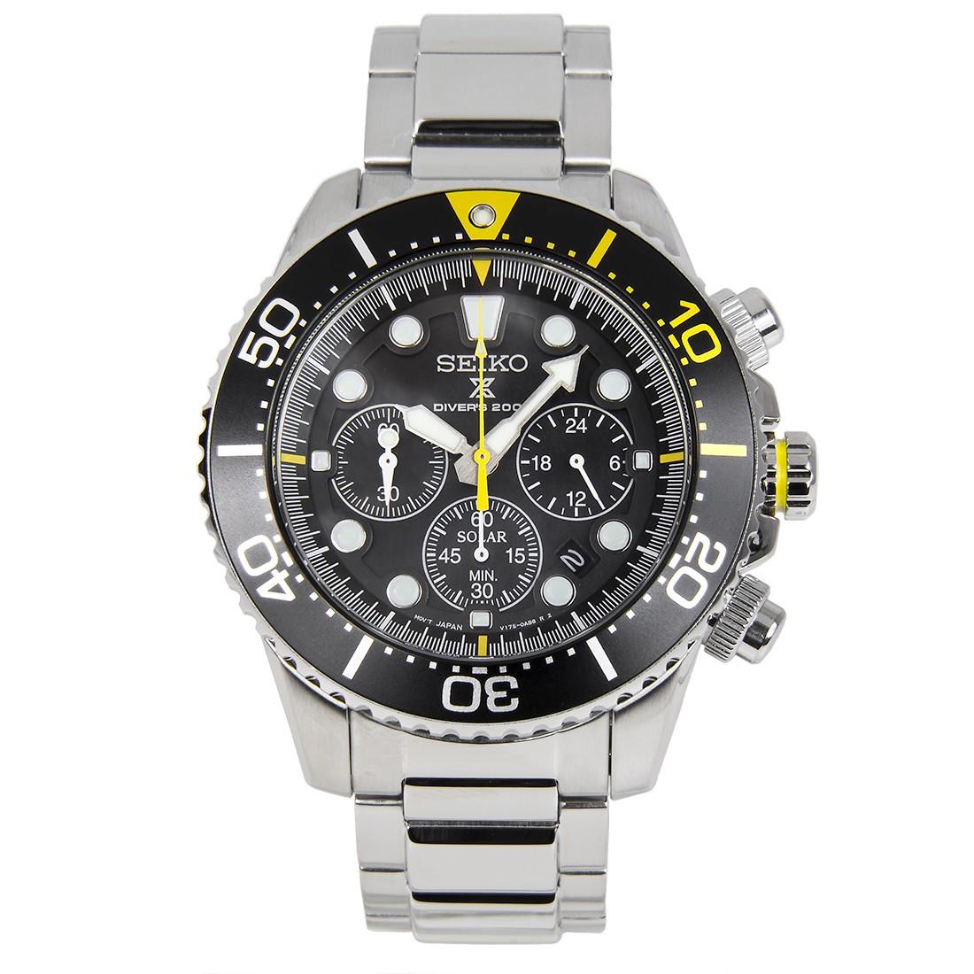 comprare popolare 9f402 67b7f Seiko Solar Chronograph Screw Down Crown Divers Mens Watch
